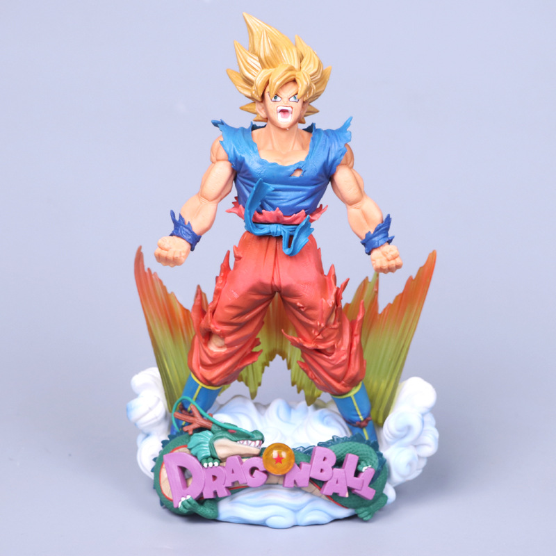 Anime Dragon Ball Z MSP Master Stars Piece Super Saiyan The Son Goku Red Ver. PVC Action Figure Collectible Model Toys Doll 24CM anime dragon ball z son goku action figure super saiyan god blue hair goku 25cm dragonball collectible model toy doll figuras