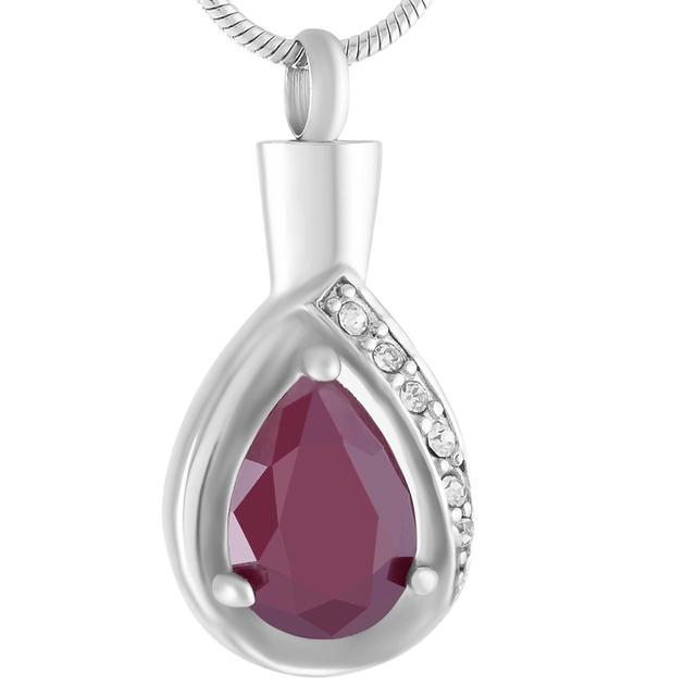 Inlay Teardrop Urn Necklace