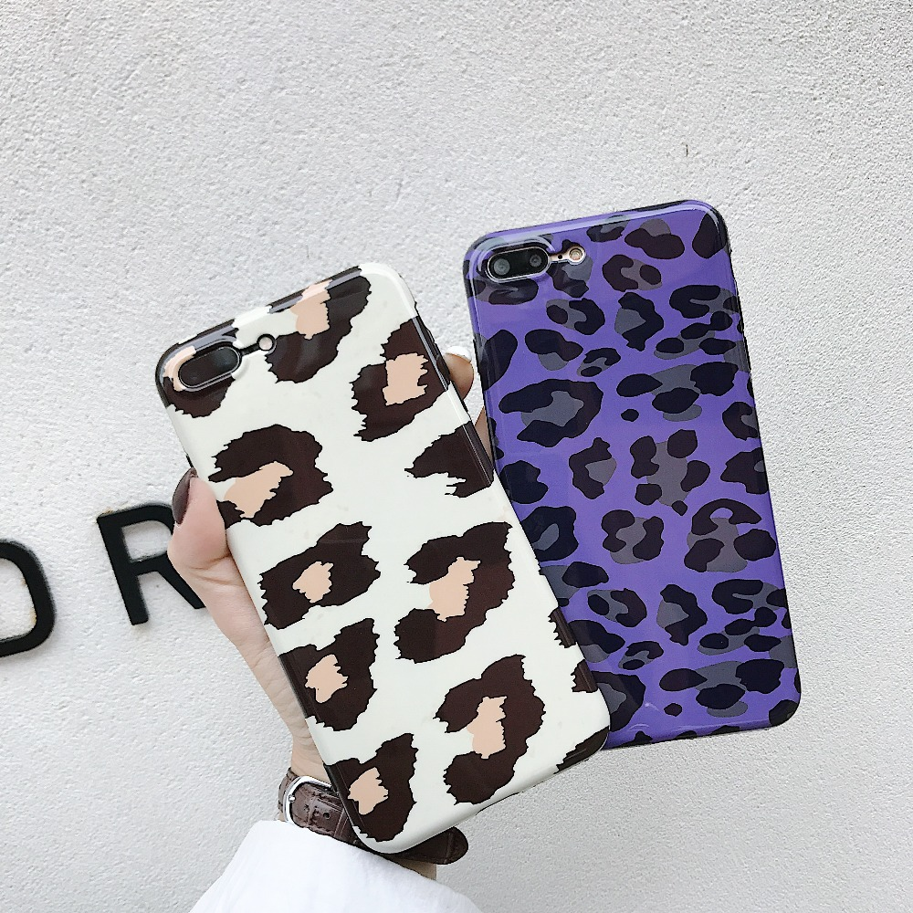 Case For iPhone XS XR XSMax X 8 7 6 6S Plus Fashion Vintage Tiger Leopard Print Soft IMD Phone Back Cover Cases Coque Gift
