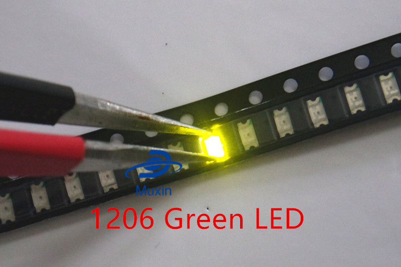 White Led Smd Chip Bulb Lamp Surface Mount Smt Bead Ultra Bright Light Emitting Diode Diy Highlight 3216 100pcs 1206