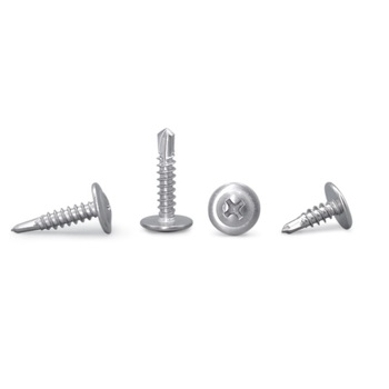 410 stainless steel large flat head / Huasi head self-tapping self-drilling dovetail screws M4.2 M4.8*13 16 19 25 32 38 45 50 image