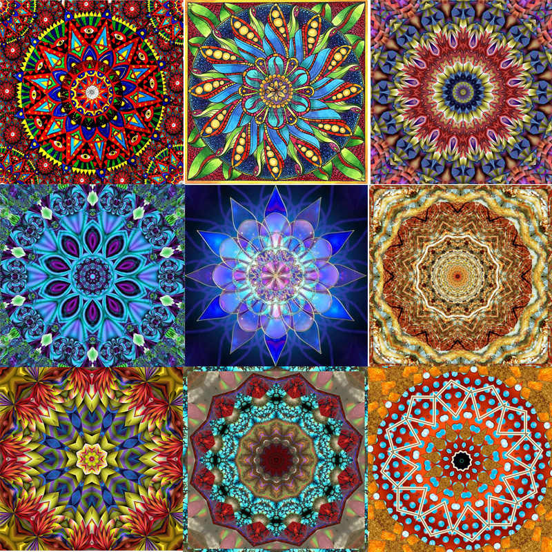 "Zhui Star Full Square Drill 5D DIY Diamond Painting ""Religion mandala"" handmade Embroidery Cross Stitch Mosaic Decor kit gift"