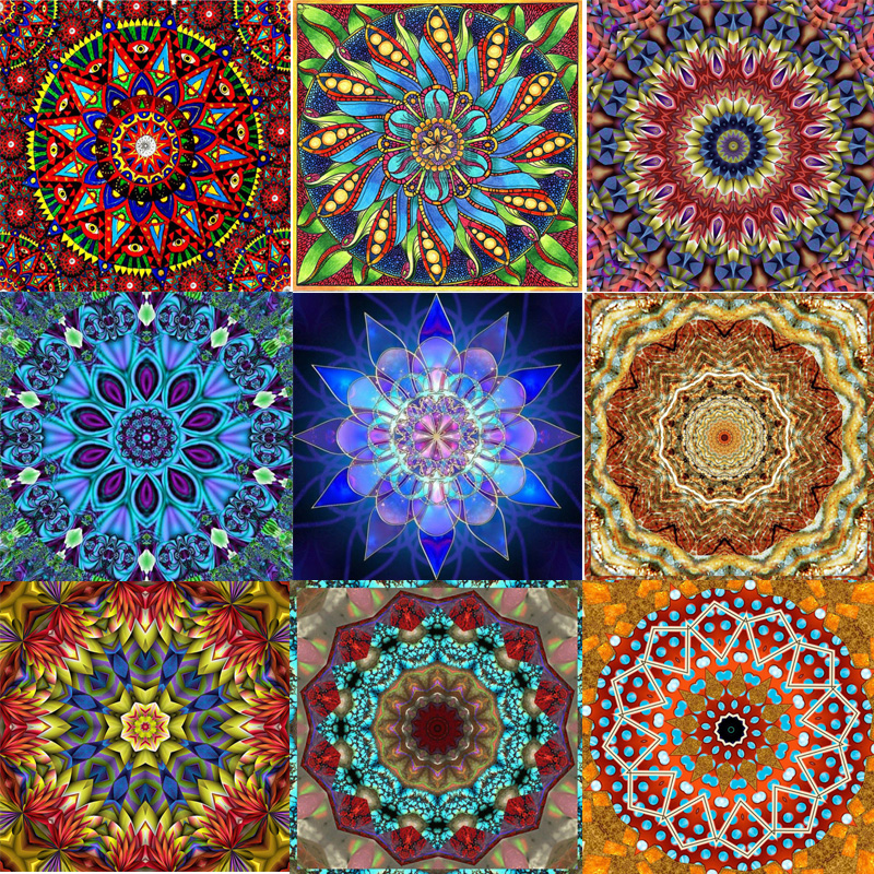 "Zhui Star Full Square Drill 5D DIY Diamond Painting ""Religion mandala"" handmade Embroidery Cross Stitch Mosaic Decor kit gift"