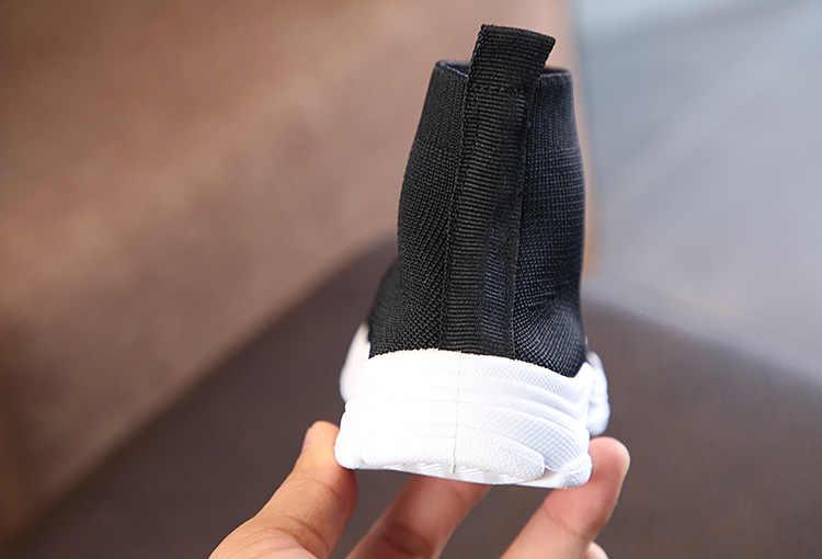 מוצק צבע ילדים של גרבי נעלי 2018 אביב סתיו אופנה מקרית ילדי סניקרס בנים ובנות תינוק סרוג לנשימה נעליים