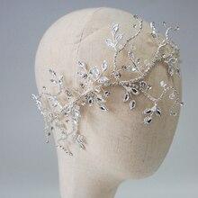 Crystal Bridal Hair Vine Side Tiara Crown Handmade Wedding Headpiece Fashion Accessories 2019