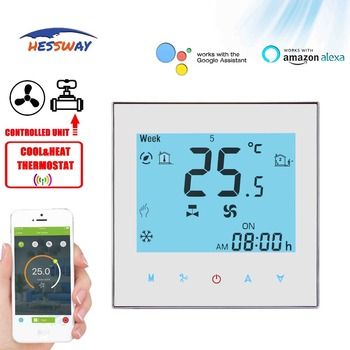 HESSWAY TUYA 2PIPE cool heat 3 speed fan WIFI thermostat valve proportional integral for 0-10V output