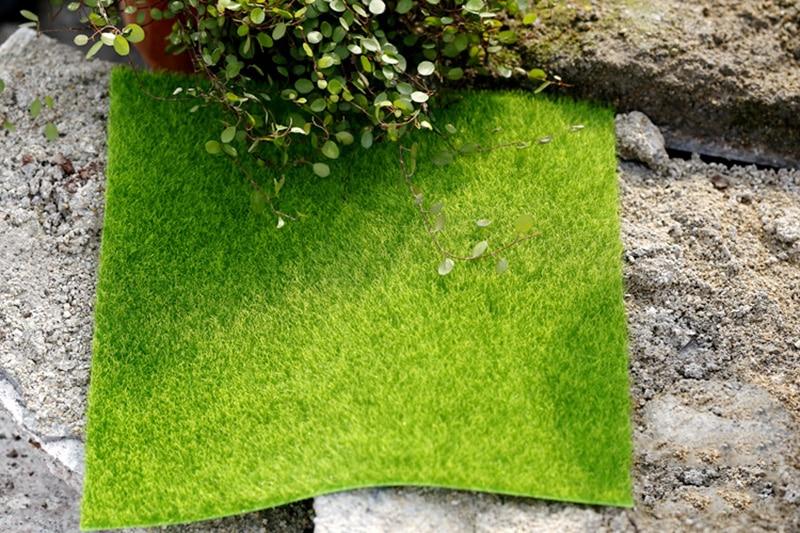 Flone Artificial PVC Grass Lawn False Moss Fake Turf Micro Landscape Decoration Accessories Home Living Room Decoration (14)