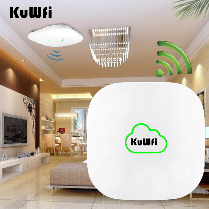 все цены на Kuwfi 300Mbp 802.11n High Power Wireless Ceiling Mount Access Point Wifi Repeater 48V POE AP Controller Software Wireless Router онлайн