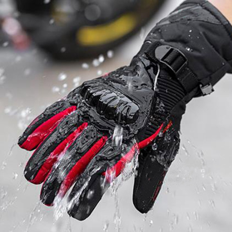 Mann Motorrad Handschuhe Touch Screen Winter Warme Wasserdicht Winddicht Schutz Handschuhe Guantes Moto Luvas Motosiklet Eldiveni