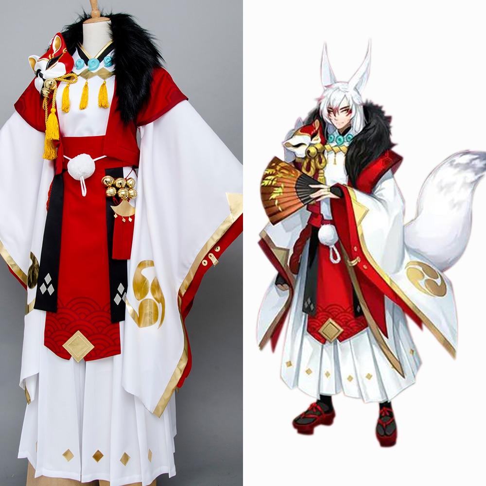 Yin Yang Master Onmyouji Fox Cosplay Costume Outfit Kimono Suit Outfit Cosplay Costume Outfit For Halloween Movie Custom Made