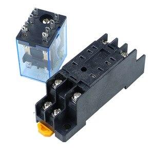 Image 3 - 10 stks MY2P HH52P MY2NJ 12 v 24 v DC/110 v 220 v AC coil algemene doel DPDT micro mini relais met socket base
