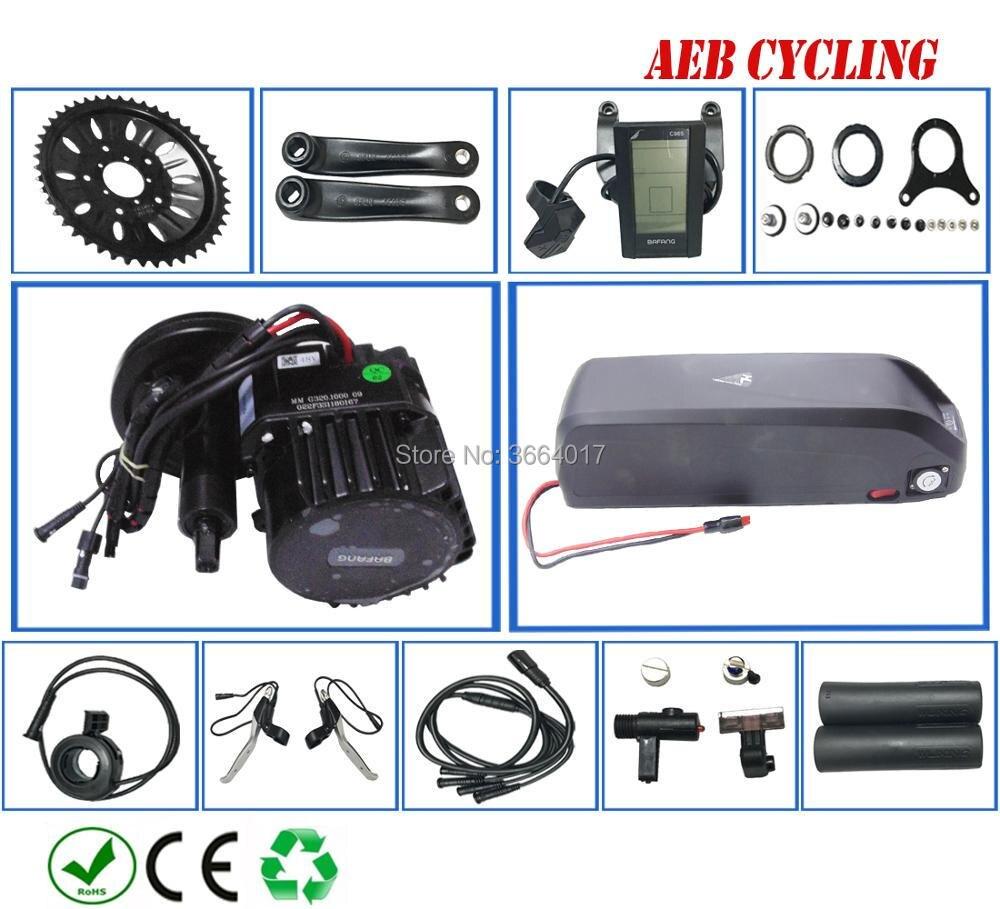 UE EUA sem impostos dever BBSHD Bafang 48 V 1000 W do motor manivela mid kits com 48 V 17.5Ah tubarão Li-ion battery pack para bicicleta pneu de gordura