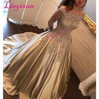 Элегантный 2018 с плеча платья для выпускного вечера одежда с длинным рукавом Vestidos de fiesta платье для выпускного вечерние платья выпускного веч