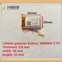 3,7 V литий-полимерный аккумулятор 042035 402035 300MAH MP3 MP4 MP5 батарея Bluetooth гарнитура батарея