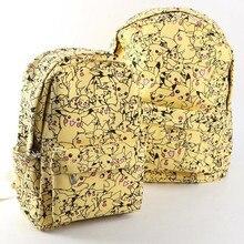 Women Cartoon Canvas Pokemon Backpack School Bag Cute Pikachu Printing Rucksack Backpack Bags New Fashion BP0058