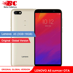 Original Global Version Lenovo A5 Smart Phone L18021 OTA 4000mAh Large Battery 3GB RAM 4G LTE Andorid 8.1 Camera 13MP Quad Core