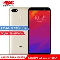 Original Global Version Lenovo A5 Smart Phone L18021 OTA 4000mAh Large Battery 3GB RAM 4G LTE Andorid 8.1 Camera 13MP Quad Core