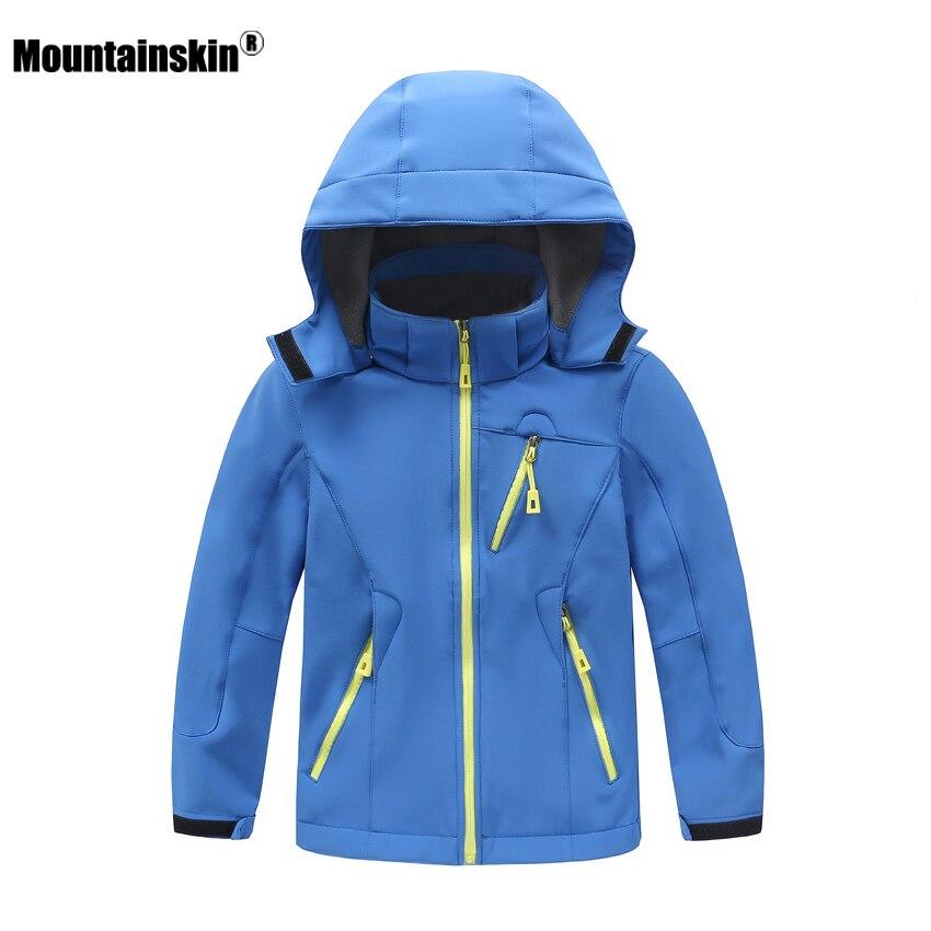 Mountainskin Children Winter Fleece Softshell Jackets Kids Sports Coats Outdoor Girl Boy Camping Hiking Hiking Windbreaker VC017