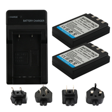 2PCS Li-10B Li10B Li 10B Li-12B Li12B 12B Battery+1Port Battery charger LED For Olympus C-50/6070/470/5000/7000 Mju 20 25 L15