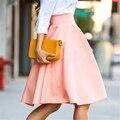 Новый fashine Горячий стиль твердые цвета длиной до колен юбка ПР джокер Плиссированные юбки BQ-70-27