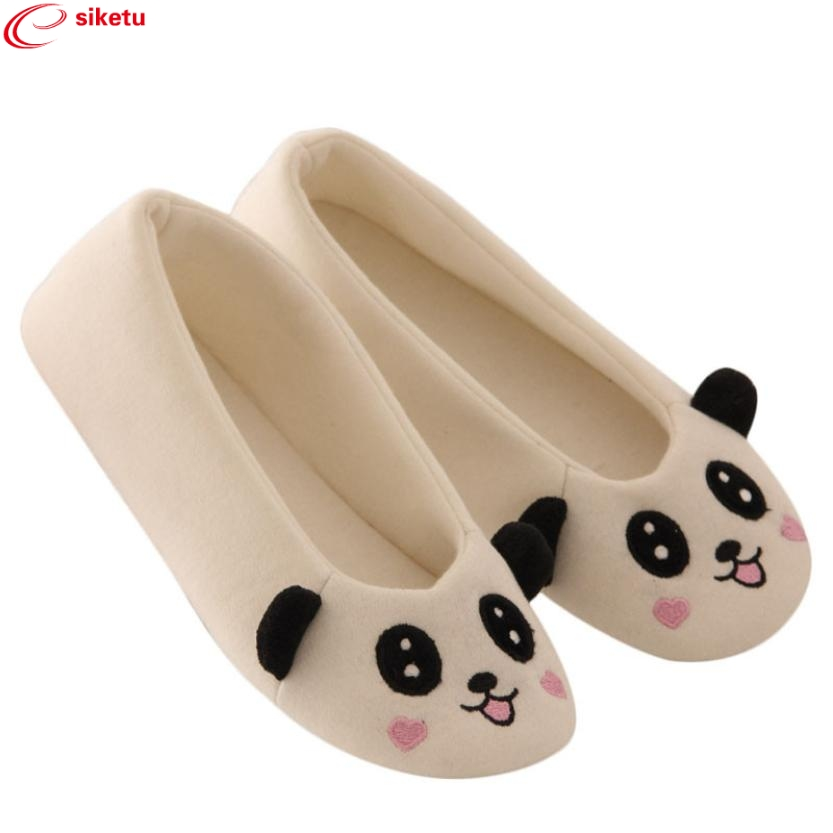 Charming Nice siketu Flats New Brand 2017 Women Ladies Home Floor Soft Indoor Cartoon Female Warm Dancing Shoes Best Gift Y30 charming nice siketu best gift baby flats tassel soft sole cow leather shoes infant boy girl flats toddler moccasin y30