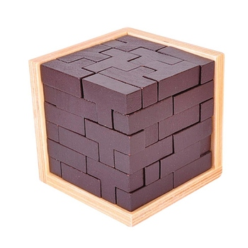 Challenge Educational 3D Puzzles Ming Luban Wooden Toys Brain Teaser Burr IQ Children Kids Adults Toys  2