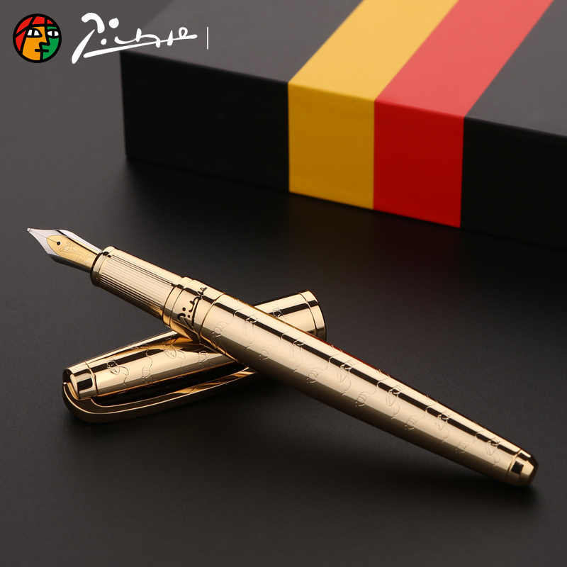 Image 3 - Picasso Luxury Full Metal Iraurita fountain pen 0.5mm ink pens dolma kalem Caneta tinteiro Stationery signing pens 1040-in Fountain Pens from Office & School Supplies