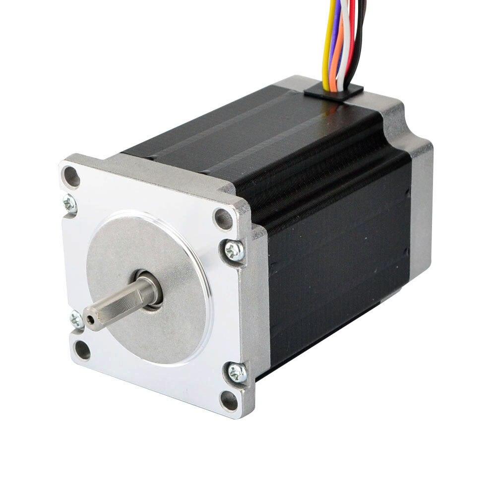 Dual Shaft High Torque Nema 23 Stepper Motor 2.83Nm(400oz.in) 4.0A 84mm 8-lead for CNC Mill Laser RouterDual Shaft High Torque Nema 23 Stepper Motor 2.83Nm(400oz.in) 4.0A 84mm 8-lead for CNC Mill Laser Router