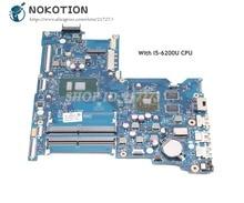 NOKOTION для hp 15-Ай 15-ay015ds ноутбук Motherbard SR23Y I5-6200U Процессор BDL50 LA-D704P 854936-601 854936-001 R5 M330 видео карты