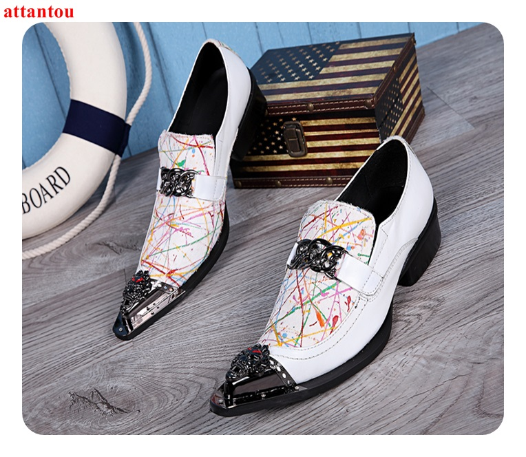Hot Sale Pointed Toe Men Dress Shoes Genuine Leather White Male Flats Elegant Casual Shoes Lace Up Office Formal Single Shoes цена 2017