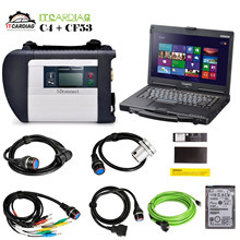 Full Chip V2019.07 software HDD MB STAR C4 MB SD Connect Compact 4 Diagnostic Tool WIFI Function With Laptop CF53 14 Inch LED(China)