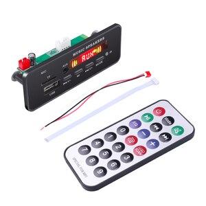 Image 4 - DC 12V Bluetooth 5.0 car kit MP3 Scheda di Decodifica Audio Modulo USB TF di FM Radio AUX MP3 Lettore Handfree per il Supporto Auto di Registrazione