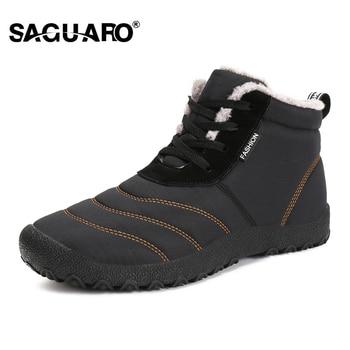 SAGUARO/очень теплые мужские зимние ботинки для мужчин, теплые непромокаемые ботинки, обувь, новинка 2018 года, мужские зимние ботильоны, Botas Masculina...