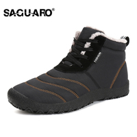 SAGUARO Super Warm Men Winter Boots For Men Warm Waterproof Rain Boots Shoes 2018 New Men