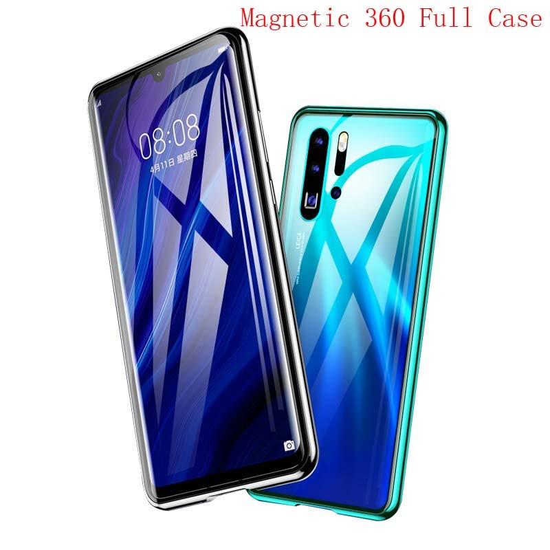 Praktisch 360 Front + Back Dubbelzijdig Body Luxe Case Metalen Frame Shockproof Voor Achter Glas Magnetische Cover Voor Huawei P30 P30pro Ks0159 Nieuwste Technologie