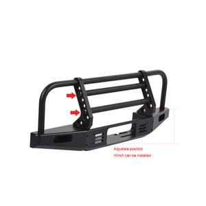 Image 4 - 1/10 RC Рок Гусеничный металлический передний бампер с светильник для осевого SCX10 90046 90047 Traxxas TRX 4 TRX4 Defender Bronco