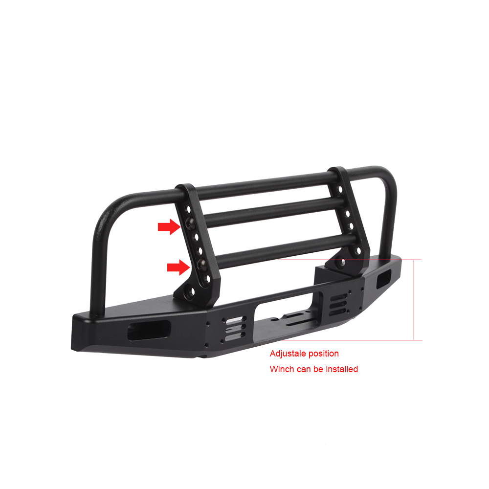 Image 4 - RCAIDONG Metal Front Bumper with Light for Axial SCX10 90046 90047 Traxxas TRX 4 TRX4 Defender Bronco 1/10 RC Rock Crawler-in Parts & Accessories from Toys & Hobbies