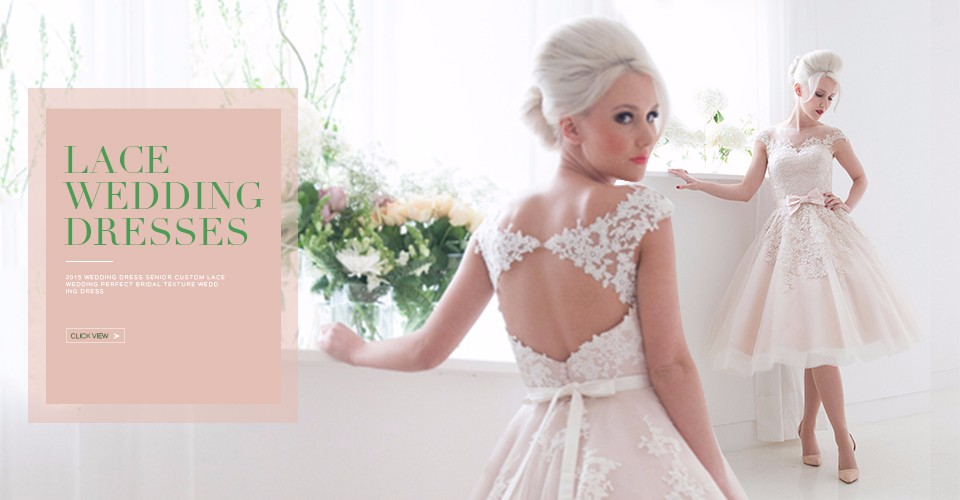 1950 vintage tea length lace wedding dresses