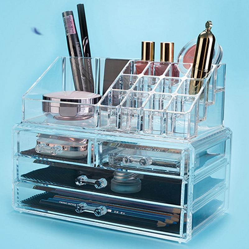 LVV RUMAH Akrilik Makeup Organizer Kotak Penyimpanan Kotak Kosmetik - Organisasi dan penyimpanan di rumah - Foto 4