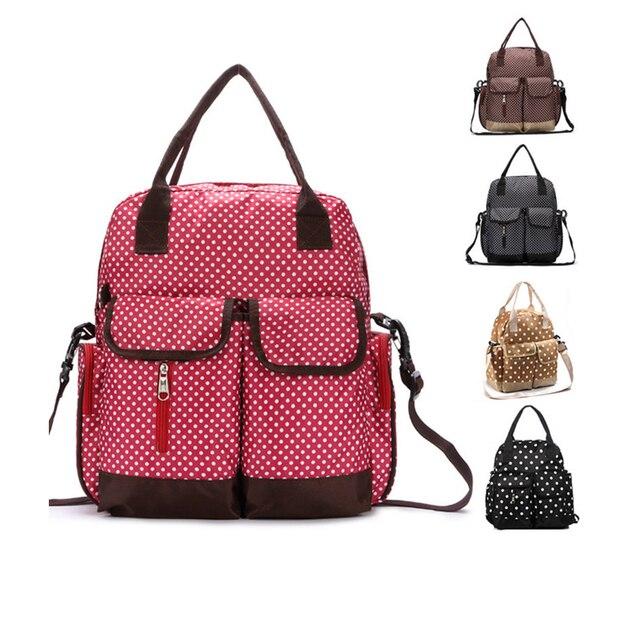 3 Pies/Sets Dot Waterproof Large Mummy Diaper Bag Backpack Mummy Bolsos Changing Bag Nappy Bag Maternity Bag Bolsa Maternidade