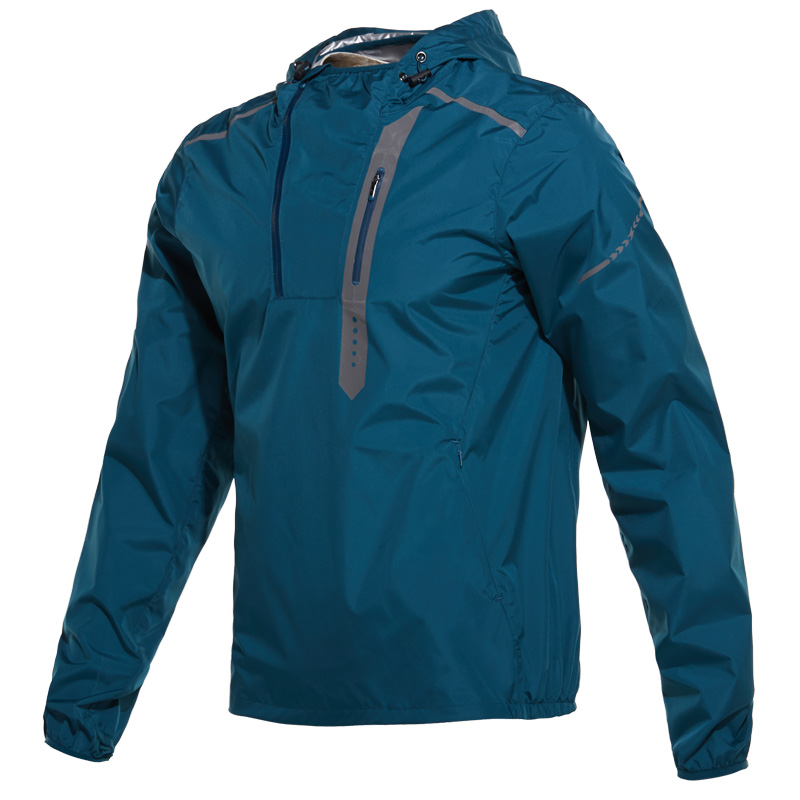 Men's Hot Sweat Jogging Running Training Jackets Sports Tops Half Zipper Fitness Gym Hooded Clothes Sweating Pullovers Coat
