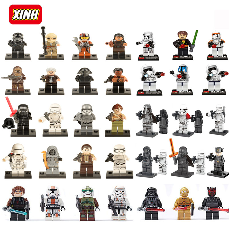 <font><b>Newest</b></font> and Classic Floor price <font><b>Star</b></font> <font><b>Wars</b></font> Minifigures Jedi Knight Han Solo Clones <font><b>The</b></font> <font><b>Force</b></font> <font><b>Awakens</b></font> Models & Building Toy Blocks