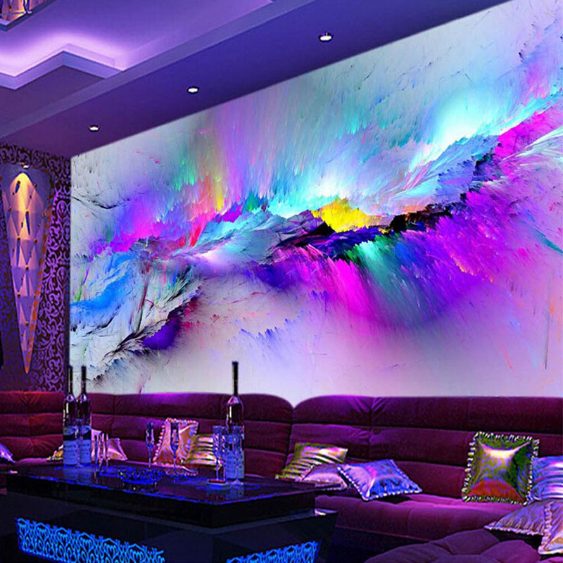 Popular colorful abstract wallpaper buy cheap colorful for Abstract mural wallpaper