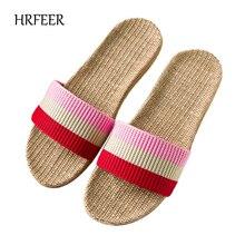 HRFEER Frauen Flachs Hause Hausschuhe Männer Indoor / Outdoor Ultra Light Slipper Tricolor Flechten Gürtel Unisex Schuhe für Frauen Sandalen
