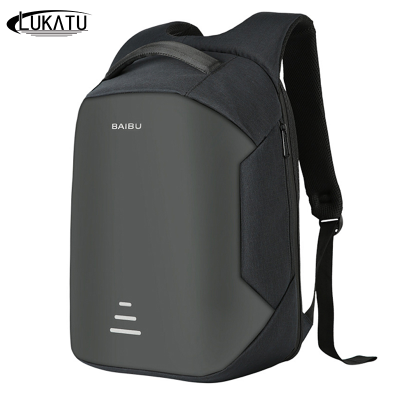 Lukatu Trend Laptop Backpack Men Usb Charging Bagpack Fashion Waterproof Backpacks Casual Male Anti-theft Travel Bag Mochila