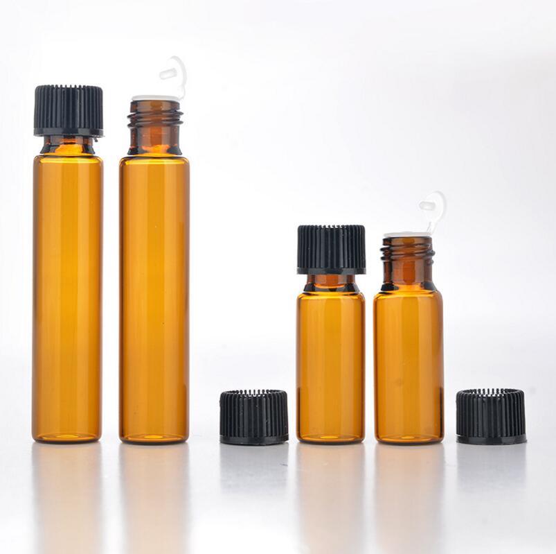 Wholesale 5ML 10ML Amber Glass Bottles With Screw Cap, Antibiotic Glass Sample Vials Packing Bottles