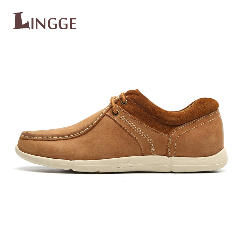 Men's Genuine Leather Casual Shoes Moccasins Men Loafers Luxury Brand Spring New Fashion S Male Boat Shoes Krasovki Men