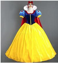 Kadın yetişkin cadılar bayramı karikatür prenses kar beyaz kostüm beyaz kar prenses telaş NL222