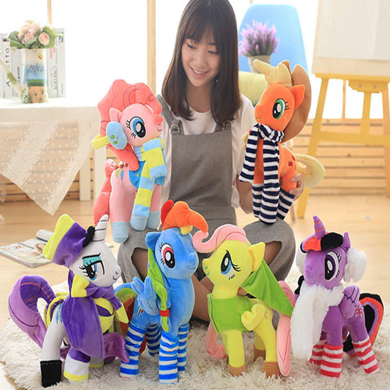 40cm Anime Unicorn Plush Pony Toy Rainbow horse with clothes Toys for Children Ty Beanie Boos unicornio pelucia Xmas Gift kids happy toy hot sale life size horse toy mechanical horse toys walking horse toy