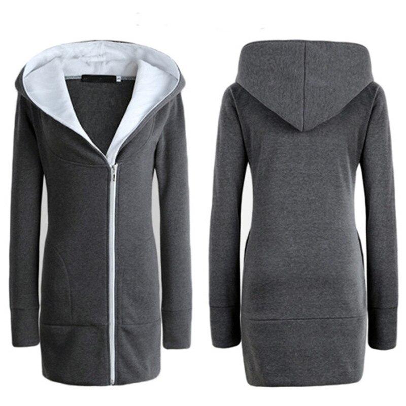 b4b86eb49 US $13.98 30% OFF ZANZEA 2018 Womens Hoodies Coat Warm Fleece Zipper Jacket  Hooded Outwear Plus Size Casacos Mujer Parka Manteau Oversize Overcoat-in  ...